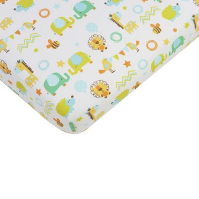 Sumersault Mix & Match Animal Crib Sheet
