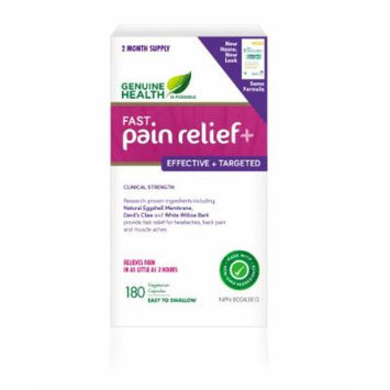 fast pain relief (formerly fast back care+) With NEM Natural Eggshell Membrane (180 Capsules) Brand: Genuine Health