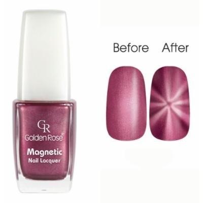 Golden Rose Magnetic Nail Lacquer - Star Effect (115 Metallic Spirited Magenta)