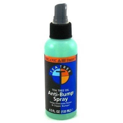 Organic Root Stimulator Tea Tree Anti-bump Spray 5 oz. (3-Pack) with Free Nail File