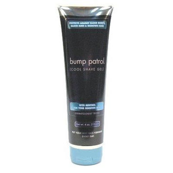 Bump Patrol Cool Shave Gel 4 oz. Tube (Sensitive) (3-Pack) with Free Nail File