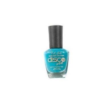 1 NEW BLACK LIGHT Glows UV (VINYL RECORD-TEAL BLUE) Fingernail POLISH Disco Brites Lacquer L.A. Girl FULL SIZE BOTTLE .47 FL OZ./14ML