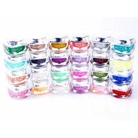 24 Colors Big Glitter UV Gel Nail Art Builder Acrylic