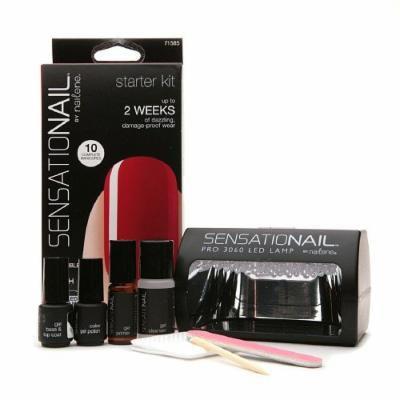 Sensationail Gel Polish Starter Kit, Scarlet Red 1 kit