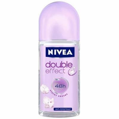 Nivea Double Effect Antiperspriant Roll-On, Violet Senses, 1.7 Fluid Ounce (Pack of 3)