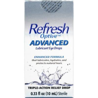 Refresh Optive Advanced Lubricant Eye Drops 0.33 OZ (PACK OF 3)