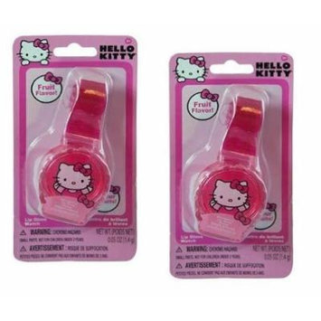 Hello Kitty Lip Gloss Watch x 2 (Fruit Flavor)