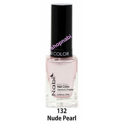 Nabi Nail Polish Nude Pearl No.132 - 15ml Square Bottle
