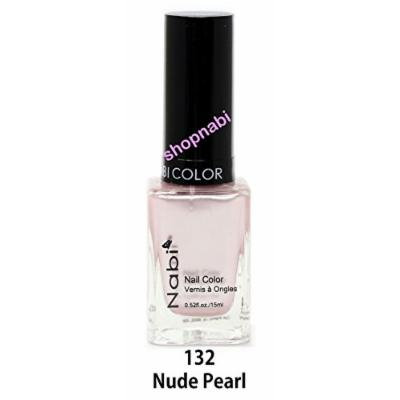 Nabi Nail Polish Nude Pearl No.132 - 15ml Square Bottle