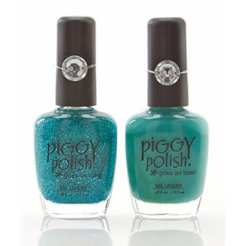 Piggy Polish Nail Color, Teal It Like It Is and Embrace Adventure