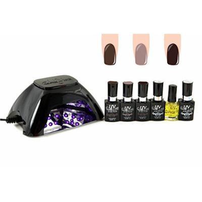 UV-NAILS BEST Salon Quality UV Gel Polish Starter Kit with LED Lamp Colors: G-32, G-27, G-4