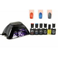 UV-NAILS BEST Salon Quality UV Gel Polish Starter Kit with LED Lamp Colors: G-78, G-73, G-43