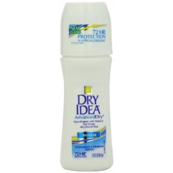 Dry Idea Roll On Anti-Perspirant & Deodorant, Advanced Dry, 3.25-Ounce Tubes (Pack of 3)