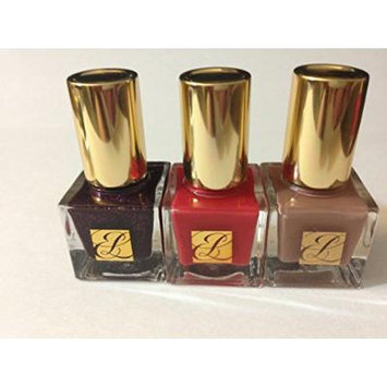 Estee Lauder Pure Color Nail Lacquer ( 10 Hot Coral + 0n Smashed +G9 so Vain) Each 5m /0.17 Oz