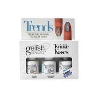Trends Gelish Soak-Off Gel Polish Twikle Kisses Set. Feeling Bubbly, Your Sleigh or Mine? & Top it Off Soak-off Sealer Nail Gel
