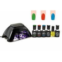 UV-NAILS BEST Salon Quality UV Gel Polish Starter Kit with LED Lamp Colors: G-19, G-8, NE-12