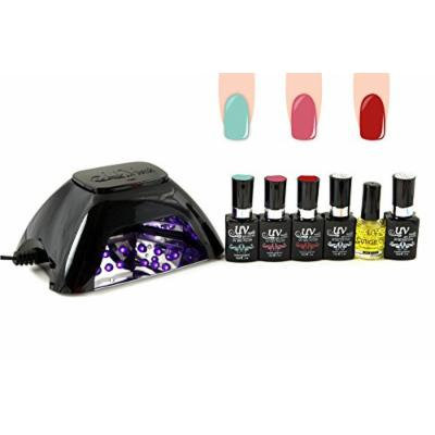 UV-NAILS BEST Salon Quality UV Gel Polish Starter Kit with LED Lamp Colors: G-67, G-18, G-7