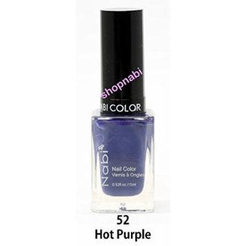 Nabi Nail Polish Hot Purple No.52 - 15ml Square Bottle