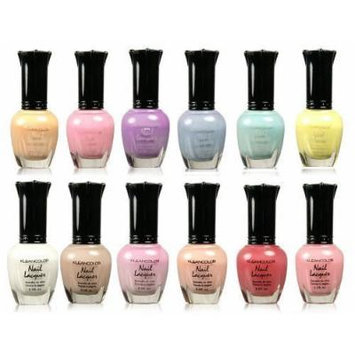 Kleancolor Collection - Assorted Pastel Nail Polish 12pc Set Free Trim Nail File