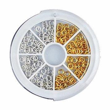 Generic 150Pcs 3.5mm Mini Open Ring Design Stud For Acrylic UV Gel Nail Art