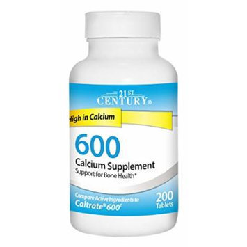 21st Century 600 mg Calcium Supplement, 200 Count