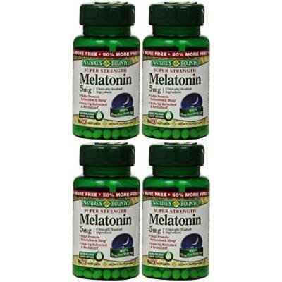 Nature's Bounty Melatonin 5mg, 360 Softgels (4 X 90 Count Bottles)