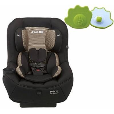 Maxi-Cosi Pria 70 Convertible Car Seat with Easy Clean Fabric PLUS Seat Belt Buckle Release Aid, Black Toffee