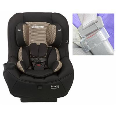 Maxi-Cosi Pria 70 Convertible Car Seat with Easy Clean Fabric PLUS Seat Buckle Safety Guard, Black Toffee