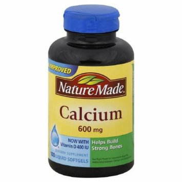 Nature Made Calcium 600 mg with Vitamin D, Liquid Softgels 100 ea