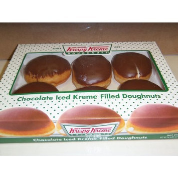 Krispy Kreme 6 Count Chocolate Iced Creme Filled Doughnuts Pack of 2