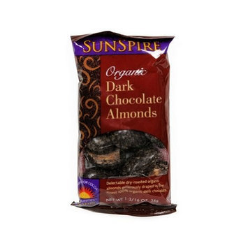 SunSpire Organic Dark Chocolate Almonds -- 1.2 oz