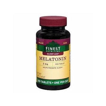 Finest Nutrition Melatonin 3mg Tab 240