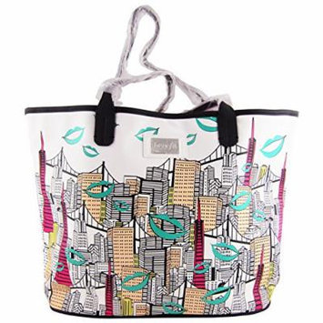 Benefit Cosmetics Kiss & Makeup Carry-all San Francisco Skyline Tote