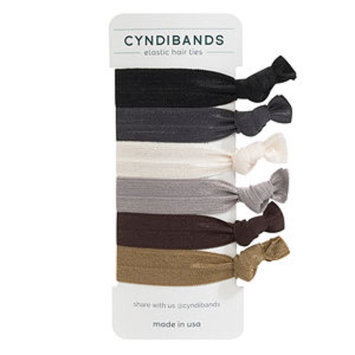 Cyndibands CyndiBands Set of 6 Hair Ties, Classic Neutrals, 1 ea
