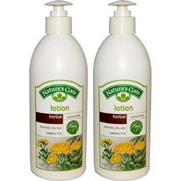 Nature's Gate Herbal Moisturizing Lotion, 18 Fl Oz (Pack of 2)