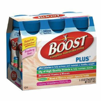 Boost Plus Complete Nutritional Drink, Bottles, Creamy Strawberry 6 ea