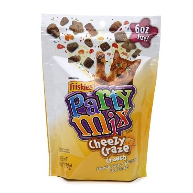 Friskies Party Mix Cheesy Craze Crunch Cheddar Swiss Monterey Jack Flavor6 oz