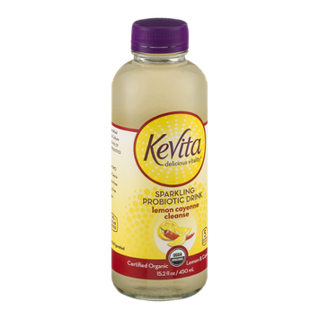 KeVita Delicious Vitality Sparkling Probiotic Drink Lemon Cayenne Cleanse