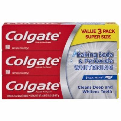 Colgate Baking Soda & Peroxide Whitening Toothpaste, 3 ea