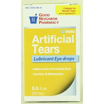 GNP Artificial Tears Lubricant Eye Drops - 0.5 fl oz, 15ml