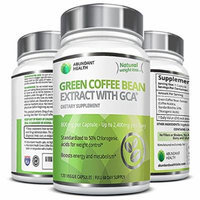 Abundant Health Green Coffee Bean Extract with GCA for Weight Control, 120 Veggie Capsules