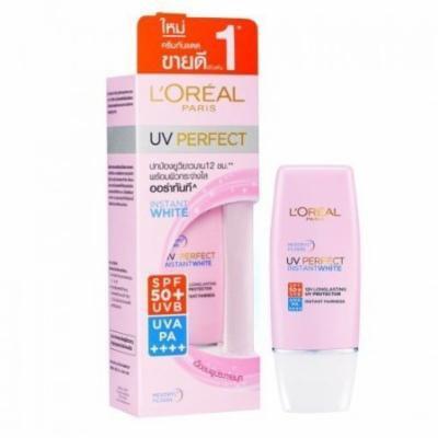L'Oréal Paris UV Perfect Facial Sunscreen Cream Instant White Spf 50+/ Pa++++