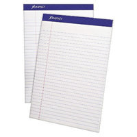 Ampad 8 1/2 x 11 3/4 Writing Pad, Wide Rule, Micro Perfed- White (50-