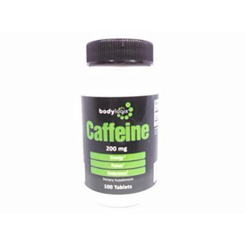 Bodylogix Caffeine Maximum Potency (200mg), 100 Tab Bottle (Compare to Prolab Caffeine)