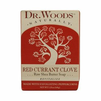 Dr. Woods Bar Soap Red Currant Clove, 5.25 Ounce, Pack of 6