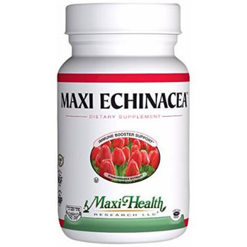 Maxi Health Echinacea Supplement - Immune Booster Support - 120 Capsules - Kosher (Pack of 24)