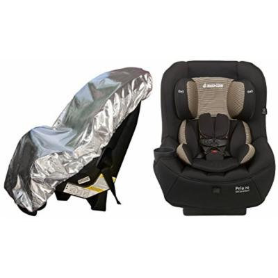 Maxi-Cosi Pria 70 Convertible Car Seat with Easy Clean Fabric and Sun Shade, Black Toffee