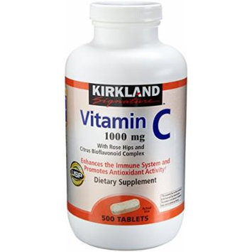 Kirkland Vitamin C with Rose Hips and Citrus Bioflavonoid Complex (1000 mg), 1000-Tablets Jumbo Pack