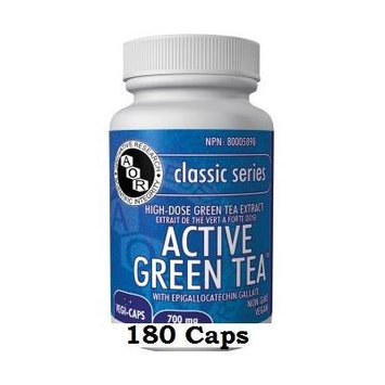 Active Green Tea (180 Capsules) EGCG MAX 700mg Brand: A.O.R Advanced Orthomolecular Research