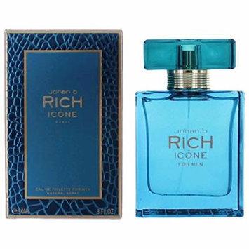 Rich Icone By Johan B Cologne for Men 3.0 Oz / 90 Ml Eau De Toilette Spray